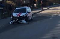 Zderzenie dwóch aut na rondzie De La Salle