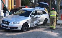 Skutki wypadku na Piastowskiej....