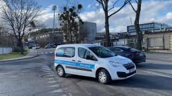 Policja zablokowała wjazd obok stadionu w Gdyni