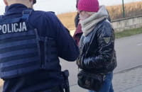 Policyjne kontrole w Brzeźnie