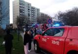 Akcja strażaków przy ul. Leszczyńskich na Zaspie
