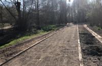 Droga rowerowa pomiędzy Parkiem Oruńskim