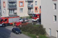 Straż pożarna w garażu na Ujeścisku