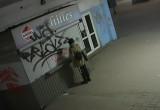 Młoda dziewczyna maluje ściany ...