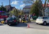 Strażacy na miejscu wypadku. Są utrudnienia