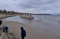 Nietypowa atrakcja na plaży w Sopocie