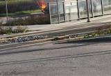 Na Przeróbce zapalił się samochód