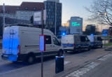 Policyjne radiowozy pod klubem Wolność w Gdańsku