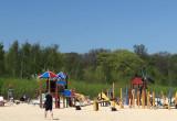 Opalanie na plazy w Sopocie