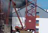Pożar poddasza budynku na Niepołomickiej