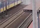 Pożar SKM na stacji Gdynia Orłowo
