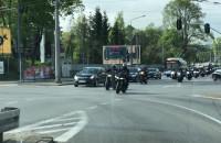 Kawalkada motocyklistów na al. Zwycięstwa w Gdyni