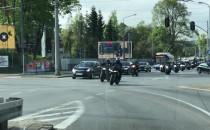 Kawalkada motocyklistów na al. Zwycięstwa...