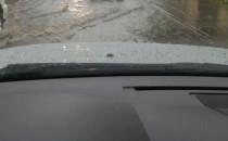 Orunia zalana po ulewie