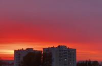 Słońce w Gdyni zachodzi na czerwono