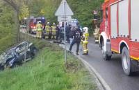 Poważny wypadek na drodze z Dąbrowy na Wiczlino