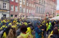 Żółto-niebieskie barwy zalały Długi Targ, ale to nie Arka ;)