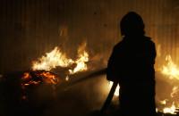 Pożar przy skupie złomu