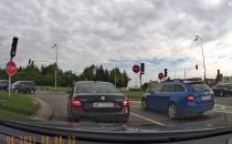 Brak miejsca za skrzyżowaniem