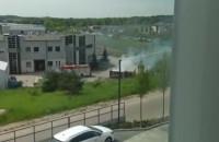 Pożar kontenera przy ul. Budowlanych w Gdańsku
