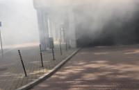 Pożar śmietnika przy Krewetce w Gdańsku