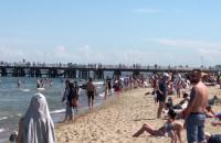 Słoneczny weekend i tłumy na plażach w Trójmieście