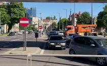Jazda na sygnale do wykolejonego tramwaju