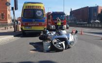 Wypadek z udziałem skutera w centrum Gdańska