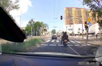 Wędkarz przejechał na czerwonym w Chyloni