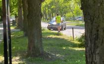 Naganiacz na parking w Brzeźnie
