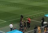 Aleksandra Dulkiewicz i Paulo Sousa na treningu reprezentacji