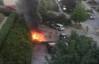 Pożar auta Ujeścisko