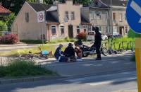 Wypadek motoru i roweru na Kartuskiej