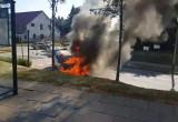 Pożar samochodu  Chwarzno