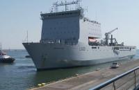 Brytyjski okręt desantowy wpłynął do Gdyni