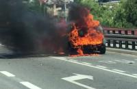 Pożar auta na Estakadzie Kwiatkowskiego
