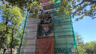 Mural z Pawłem Adamowiczem powstaje na Starym Mieście