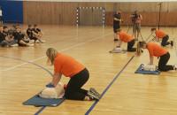 Sportowcy uczyli się pierwszej pomocy
