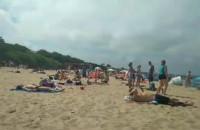 Niedzielne plażowanie w Brzeźnie