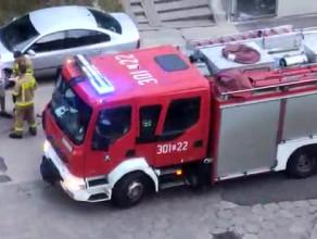Straż pożarna w markecie na Bulońskiej