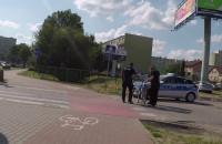 Zatrzymanie rowerzysty przy obwodnicy na Chyloni