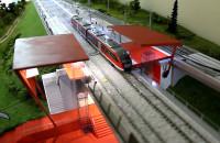 Makieta stacji Gdańsk-Bretowo w świetle Kolei Metropolitalnej