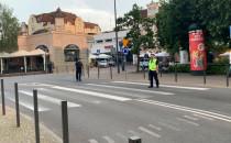 Policja blokuje Monciak