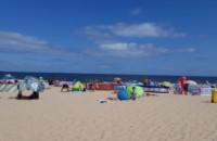 Parawaning na gdańskiej plaży