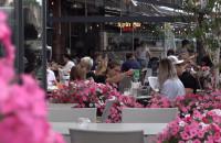 Ogród w restauracji. Relaks i kolacja wśród zieleni