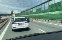 Samochód na prawym pasie za A1 w kierunku Gdyni