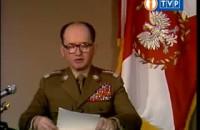 Gen. Wojciech Jaruzelski ogłasza wprowadzenie stanu wojennego