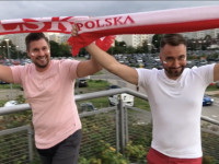 Kibice przed meczem Polska - Rosja