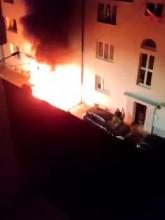 Nocny pożar auta na Żywieckiej w Gdańsku