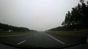 Przejazd autostradą A1 z Rusocina do Torunia